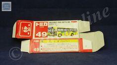 TOMICA 049F AMUSEMENT PARK BUS  | 1/130 | ORIGINAL BOX ONLY | ST5 1995 JAPAN