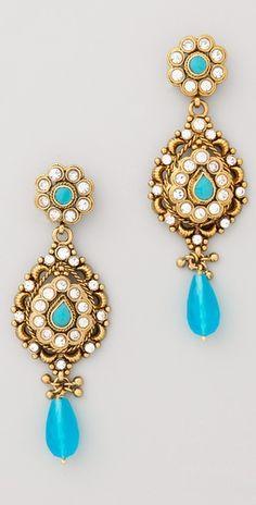 Rosena Sammi Jewelry Blue Stone Drop Earrings