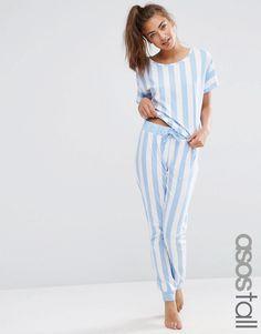 ASOS+TALL+Deckchair+Stripe+Tee+&+Jogger+Pyjama+Set