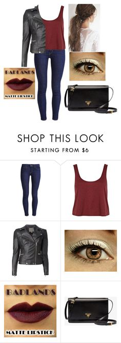 """Cuuute"" by atalialove ❤ liked on Polyvore featuring Levi's, River Island, MuuBaa, Prada, women's clothing, women's fashion, women, female, woman and misses"