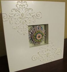 Use Stencil Paste to dress up any frame. - Tara Bazata