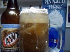 Adult Root Beer Float-was a hit at a girl's weekend get away. Used diet root beer and fat free whipped cream