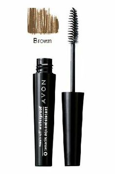 Avon Wash-off Waterproof Mascara - Brown: Streak-free mascara. Washes away with soap and water. .21 oz. net wt. Hypoallergenic and opthamologist-tested. $3.01