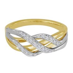 1/10 ct. tw. Diamond Band in 10K Gold available at #HelzbergDiamonds