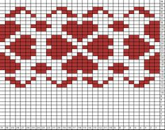 Tricksy Knitter Charts: untitled chart Tapestry Crochet Patterns, Fair Isle Knitting Patterns, Fair Isle Pattern, Knitting Charts, Knitting Stitches, Filet Crochet, Crochet Chart, Fair Isle Chart, Cross Stitch Numbers