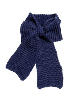 IL GUFO - WOOL BLEND KNIT SCARF WITH BOW - LUISAVIAROMA - LUXURY SHOPPING WORLDWIDE SHIPPING - FLORENCE