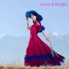 Bohemia Drawstring Elastic Ruffles Waist Full Circle Long Dress Chiffon Summer Boho Beach Dress