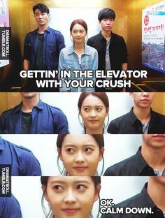 "hahaha ... kdrama ""You Are All Surrounded."" This is exactly what I would look like if I ended up in an elevator with Cha Seung-won."