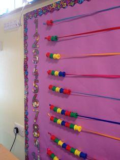 Interactive maths number display Maths Eyfs, Numeracy Activities, Nursery Activities, Interactive Activities, Preschool Boards, Numbers Preschool, Learning Numbers, Number Display Eyfs, Numeracy Display