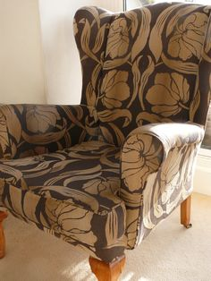 Chair form eBay covered in William Morris print