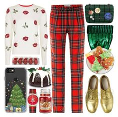 Christmas by barbarela11 on Polyvore featuring Topshop, Preen, Vivienne Westwood, Charter Club, Casetify, ASOS, Yankee Candle and Maison Margiela
