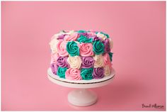 How adorable! Lucy's smash cake, just make the colors a little lighter
