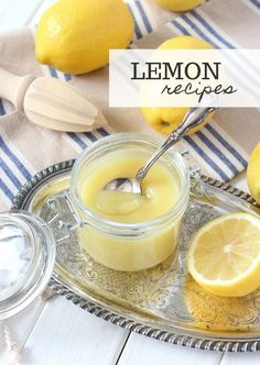 A delicious collection of fresh lemon recipes for the lemon fanatic. Cheesecake, cookies, drinks and more. Click to get the full list! Lemon Recipes - Lemon Desserts - Lemon Cake
