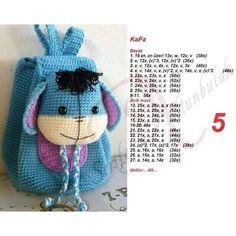 Handmade Toys For Kids Girls - Handmade Crochet Fox, Crochet Shoes, Crochet Purses, Crochet Dolls, Crochet Backpack, Backpack Pattern, Kids Bags, Crochet For Kids, Handmade Bags