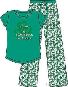 MCCC Sportswear I KISSED LEPRECHAUN LIKED IT Woman s PJ Irish St. Patrick's Day
