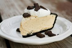 Peanut Butter Pie - Like it best with oreo cookie crust and whipping cream instead of cool whip.
