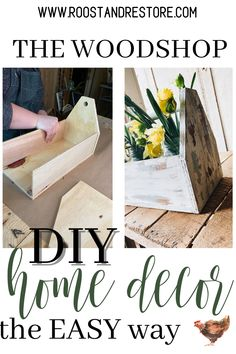 Diy Wood Projects, Diy Projects To Try, Wood Crafts, Diy Home Crafts, Jar Crafts, Diy Home Decor, Farmhouse Decor, Dyi, Easy Diy