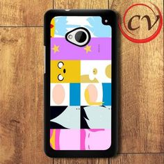 Adventure Time Characters HTC One M7 Black Case