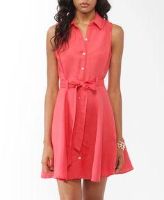 Linen-Blend Shirtdress | FOREVER21