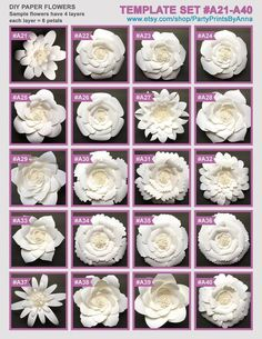 Discover thousands of images about 40 PDF Paper Flower Templates 40 printable PDF templates Large Paper Flower Template, Flower Petal Template, Paper Flower Patterns, Easy Paper Flowers, Paper Flower Wall, Paper Flower Backdrop, Paper Flower Tutorial, Giant Paper Flowers, Diy Flowers