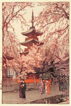 Asian Japanese art by artist Hiroshi Yoshida (1876-1950)  #Japanese #art #artist #asian