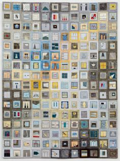 Yellow Gray Quilt by Erin Wilson