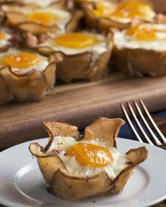 Potato Flower Breakfast Cups Recipe by Tasty