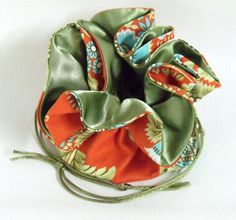 Jewelry Drawstring Travel Bag Medium  Amy Butler by EdieCastle, $16.00
