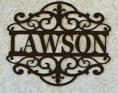 This personalized Name sign would look lovely hung on the outside of your house, in your entry way, over your fire place, or in any room to add a