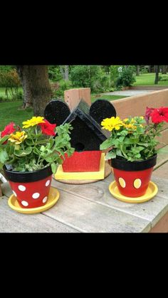 Flower pots Mickey Mouse