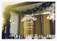 Wedding Ideas: cocktail-station-glass-wall