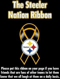 The Steeler Nation Ribbon Steelers Pics, Here We Go Steelers, Pittsburgh Steelers Football, Pittsburgh Sports, Best Football Team, Steelers Stuff, Dallas Cowboys, Pittsburgh Penguins, College Football