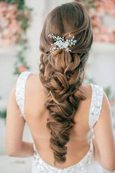 Beautiful long hair - hair styles - weddings - bride - bridal hair