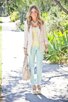 Love the pastels.. i never know how to coordinate colors like these.. guess this is my cheat sheet