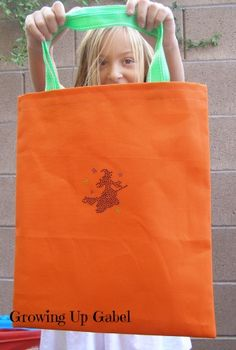 Easy to Sew Trick or Treat Bag ~ Growing Up Gabel