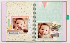 very cute idea for the baby smash book Scrapbook Journal, Baby Scrapbook, Scrapbook Paper Crafts, Scrapbook Pages, Paper Crafting, Crafty Craft, Crafty Projects, Baby Time Capsule, Baby Mini Album