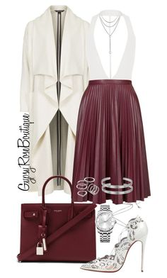 """""""#683"""" by gypsyroseboutique on Polyvore featuring Topshop, Yves Saint Laurent, Christian Louboutin, David Yurman, Calvin Klein, Apt. 9 and Cartier"""