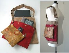 laptop messenger bag converts to tote bag, cross body purse, diaper bag, detachable 3 section bag, handbag