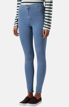 Topshop Moto 'Joni' High Rise Skinny Jeans (Regular & Short) (Mid Stone) available at #Nordstrom