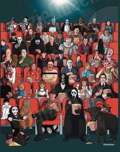 Horror Villains, Horror Films, Horror Art, Star Stickers, Michael Myers, New Print, Original Artwork, Cartoon, Art Prints