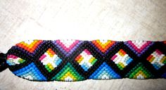 Multi-Colored Pinwheel Woven Friendship Bracelet Pinwheel Macrame Bracelet by TheGringaHippie on Etsy