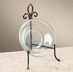 Large York Metal Stand for Books Bowls or Platters & Large Metal Platter Bowl Plate Stand Display   Plate stands Bowls ...