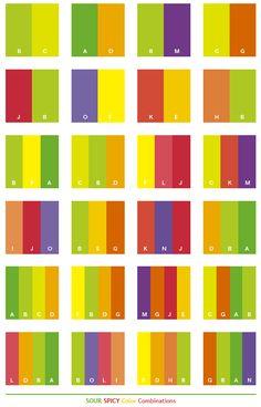 Color Schemes Sour Y Combinations Palettes For Print