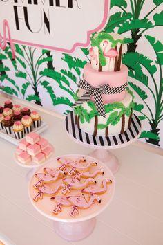 flamingo-party-cake-banana-leaf-pink-green-old-florida-palm-beach-miami.JPG (1066×1600)