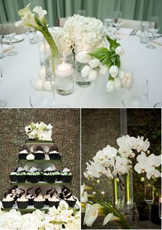 Varied white flowers