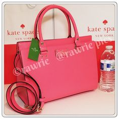 """SALE New Kate Spade pink Durham Tote Satchel 100% authentic. Peony pink boarskin embossed cowhide with 14-karat light gold plated hardware and protective metal feet. Front compartment with magnetic snap closure. Zip top closure main compartment with zip and slip pockets. Handles drop 5"""". Longer detachable and adjustable strap. Measures 12.5"""" (L) x 9.5"""" (H) x 6"""" (W). Brand new with tags. Comes from a pet and smoke free home. Kate Spade shopping bag included. kate spade Bags Satchels"""