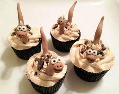 Chocolate dinosaur cupcakes are dino-mite!