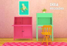 sims 4 mm cc maxis match desk and chair recolours IKEA lina cherie