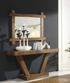 Consolas de Mader Maciza modelo SUAR X. Decoracion Beltran, tu tienda online de decoracion para tu hogar.
