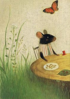 motleycraft-o-rama:From The Town Mouse and the Country Mouse, by Ayano Imai, Via cantafiabesmemorato.